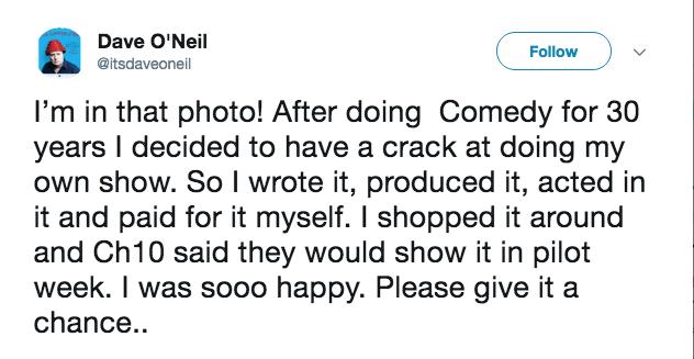 Dave O'Neil tweet