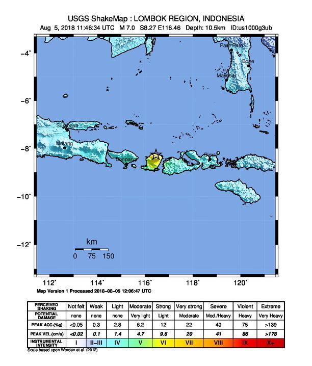 lombok bali earthquake