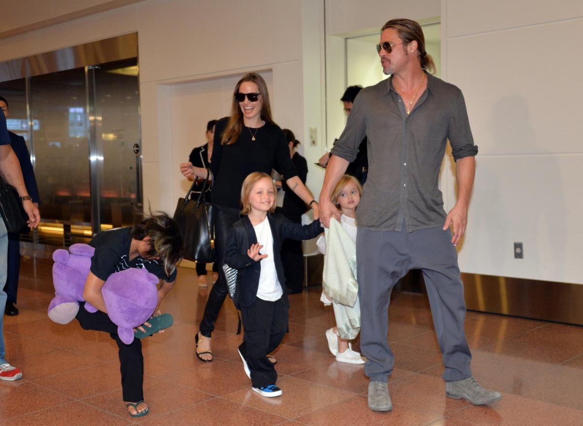 Ange, Brad and kids