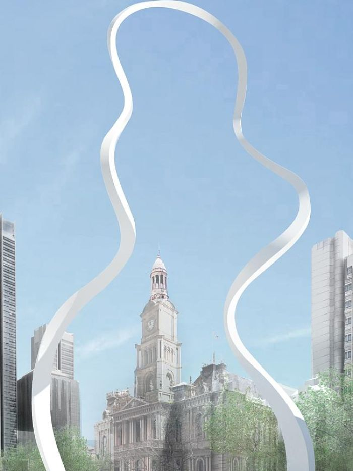 cloud arch sydney george st sculpture