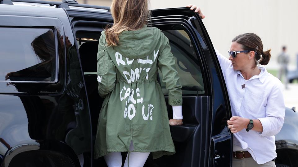 Melania Trump parka