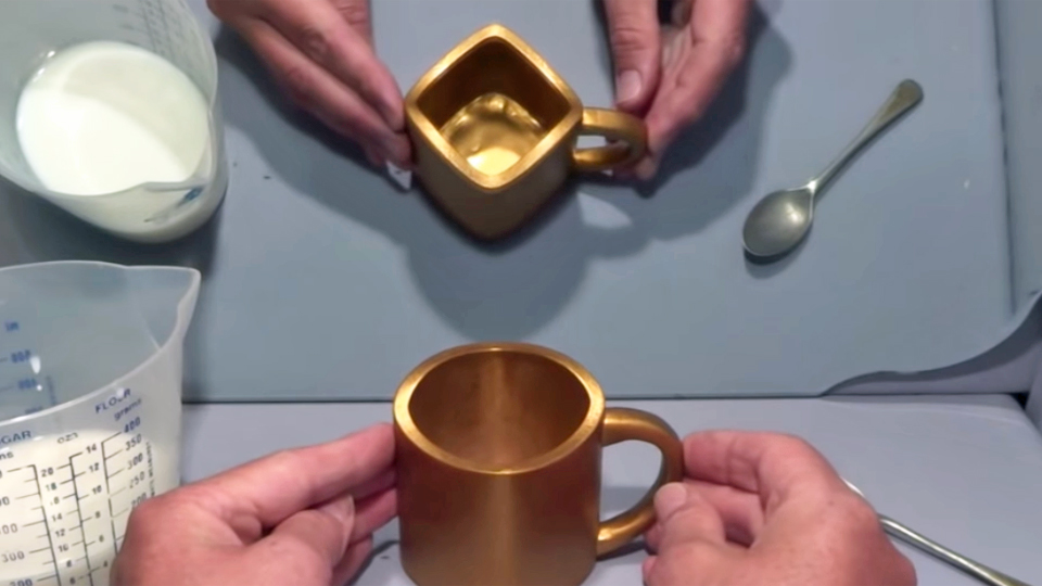 gold cup illusion