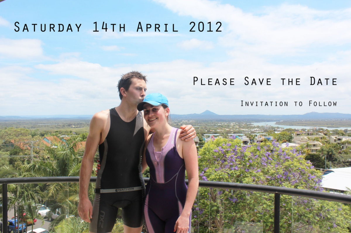 Leigh and Sara save the date