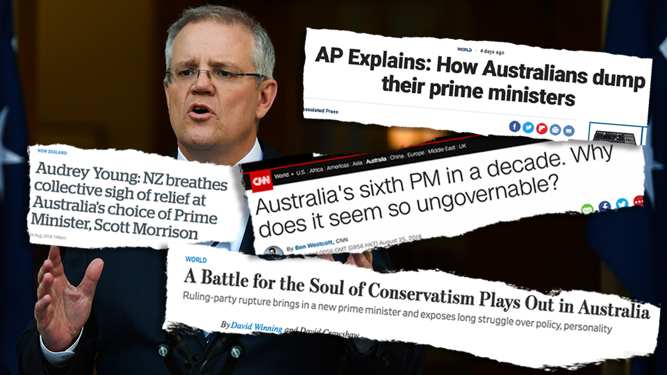 To the world, Australia's government is a big fat joke