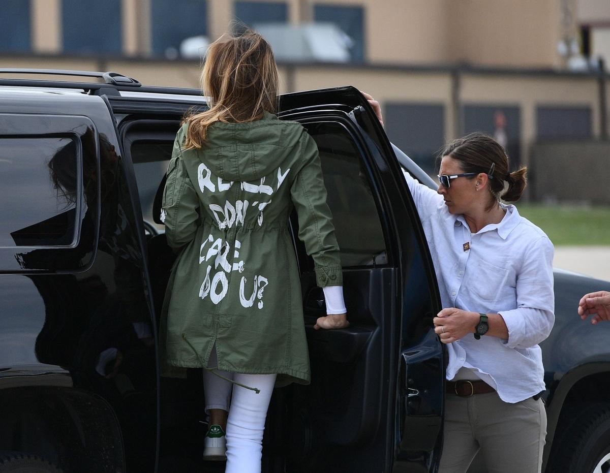 Melania's controversial jacket