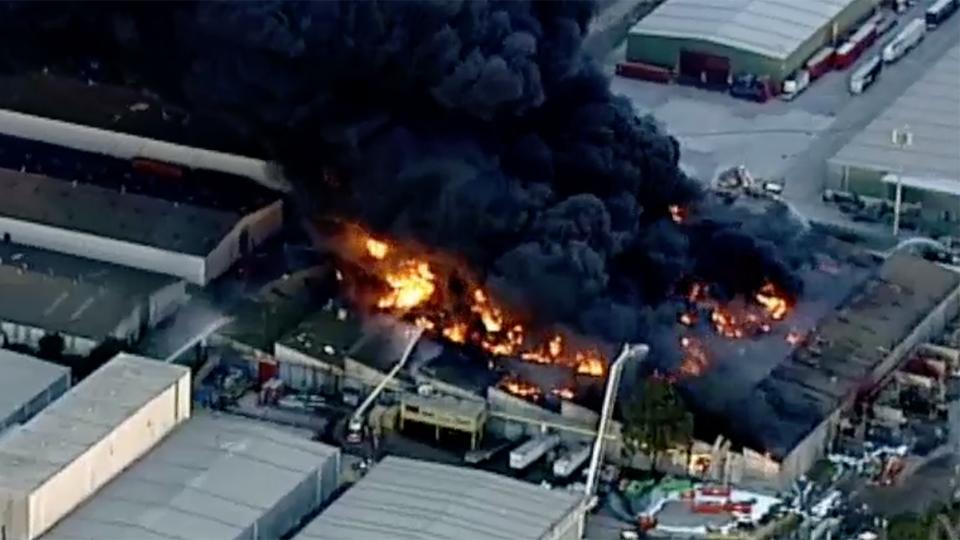 footscray factory fire