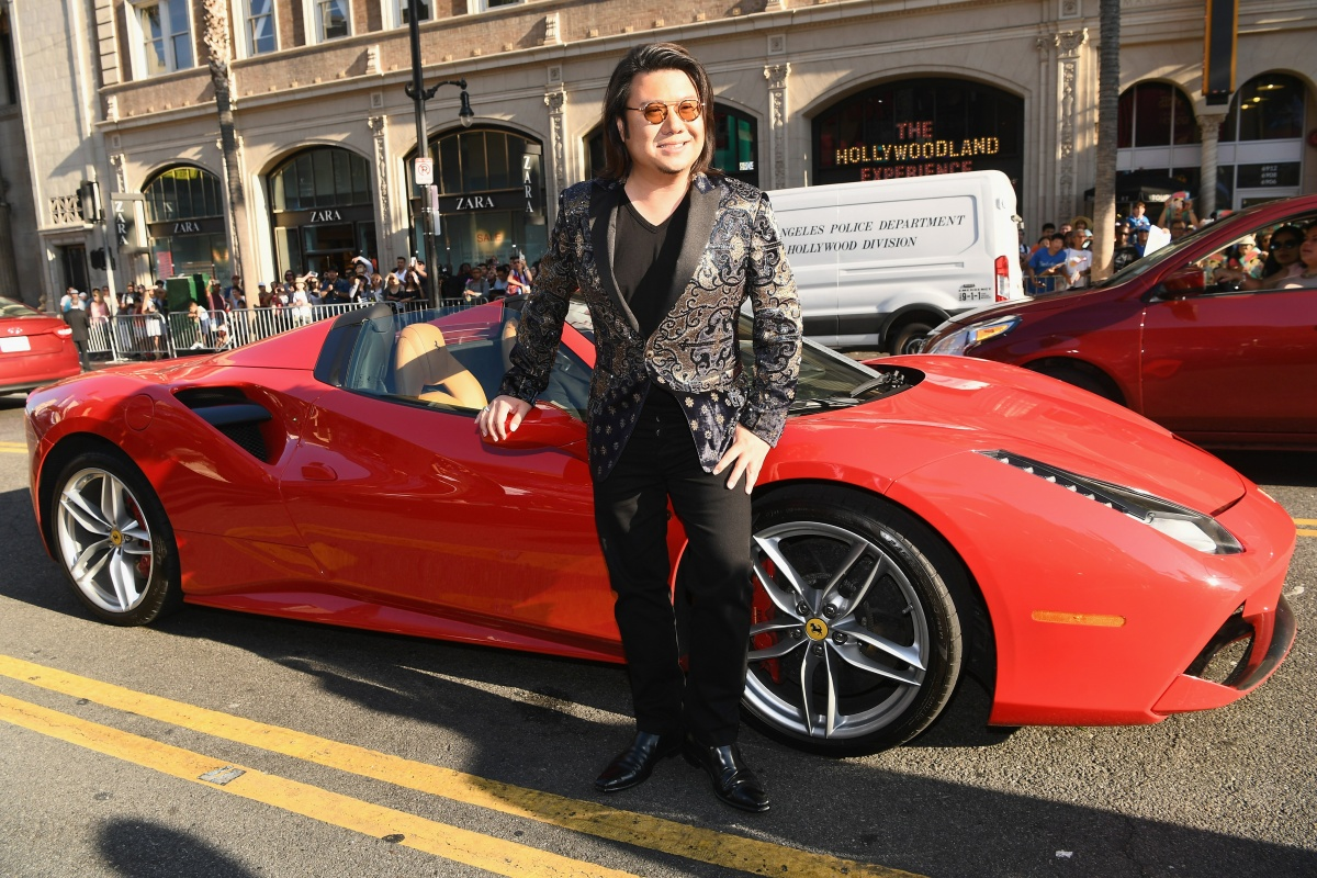 Kevin Kwan arrives to the Hollywood premiere of Crazy Rich Asians