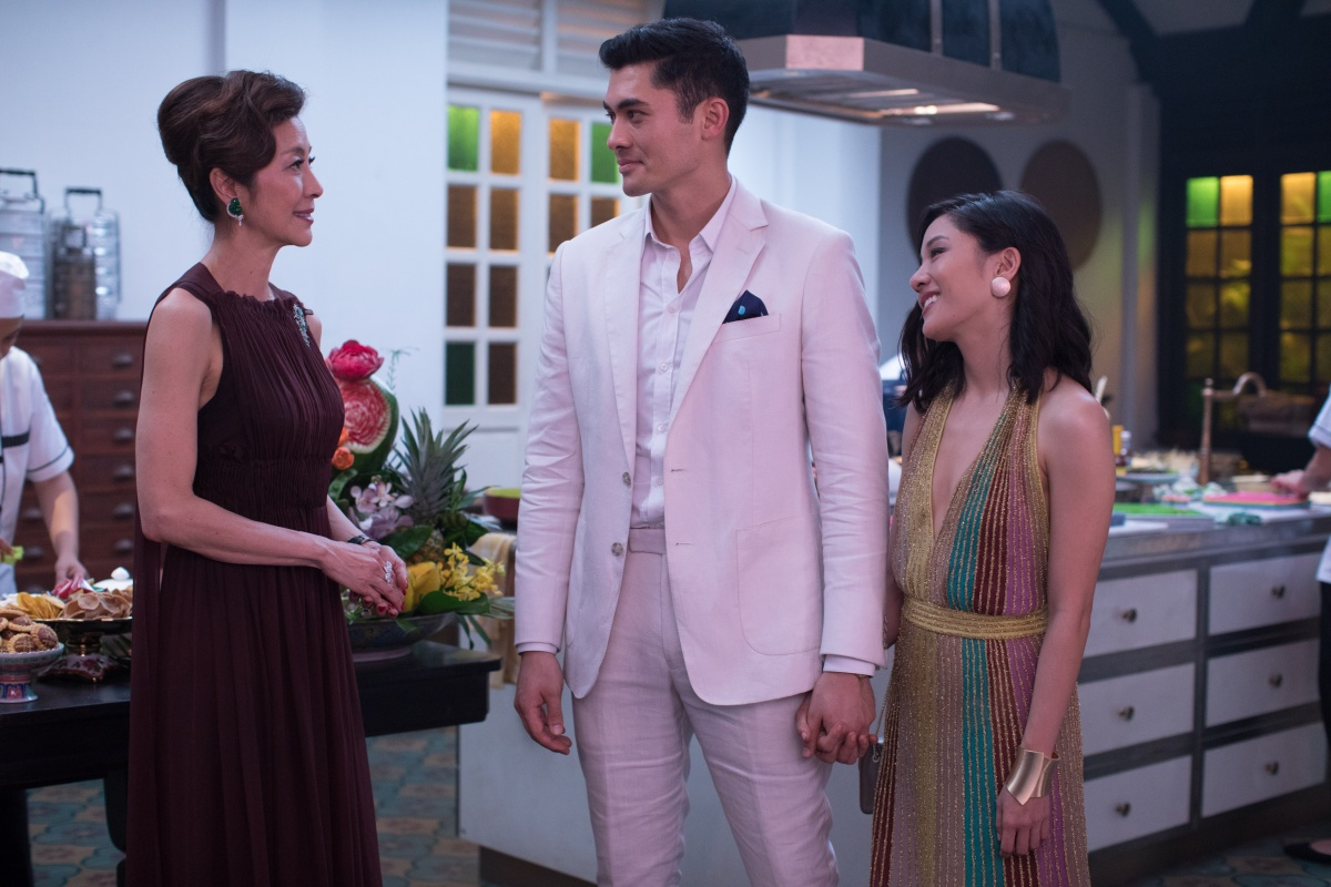 Crazy Rich Asians has an all-star Asian cast, including Michelle Yeoh (left) and Constance Wu, famous for TV series Fresh off the Boat.