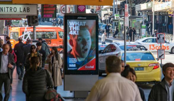 telstra pay phone melbourne billboard