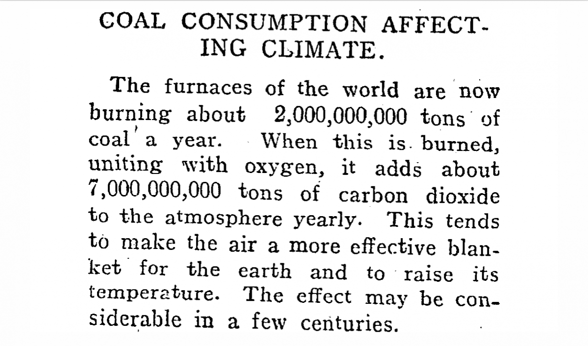 nz climate change 1922