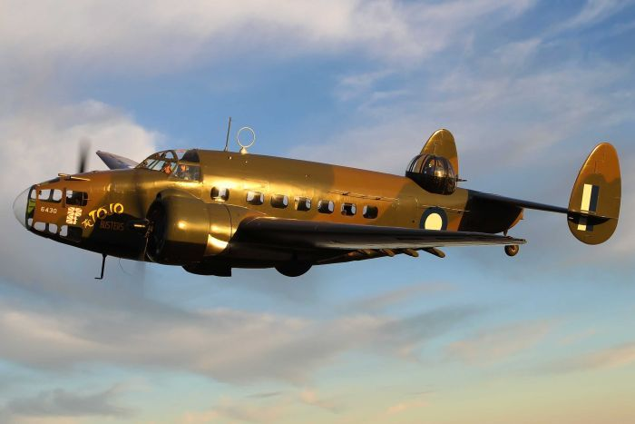 The type of plane involved in the crash, a Lockheed Hudson bomber (Supplied: Gavin Conroy)