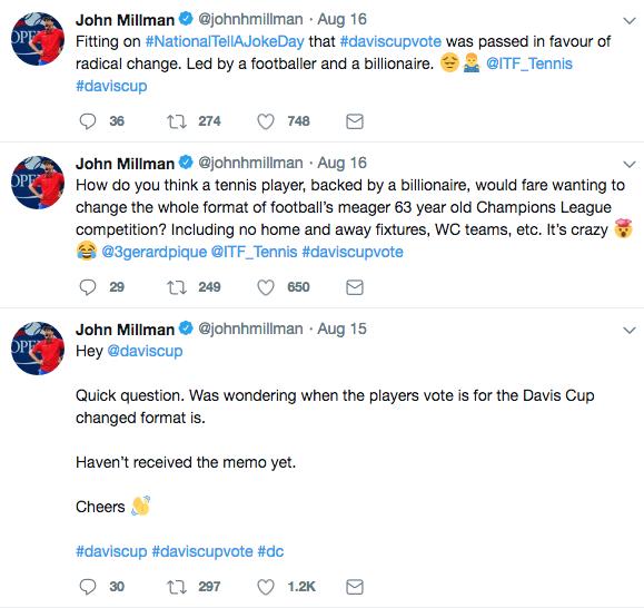 Millman Twitter screen shot