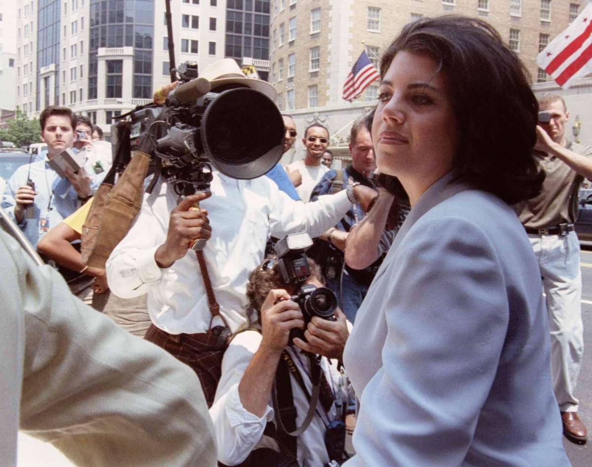 Lewinsky Walks Off Stage After Clinton Question