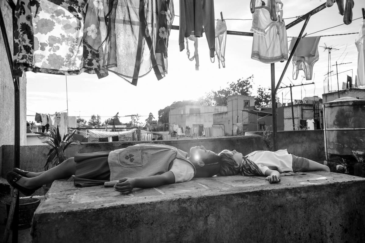 "Alfonso Cuarón looks back to 1970s Mexico City in ""Roma."" <i>Photo: Netflix</i>"