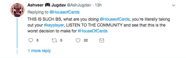House of Cards tweet