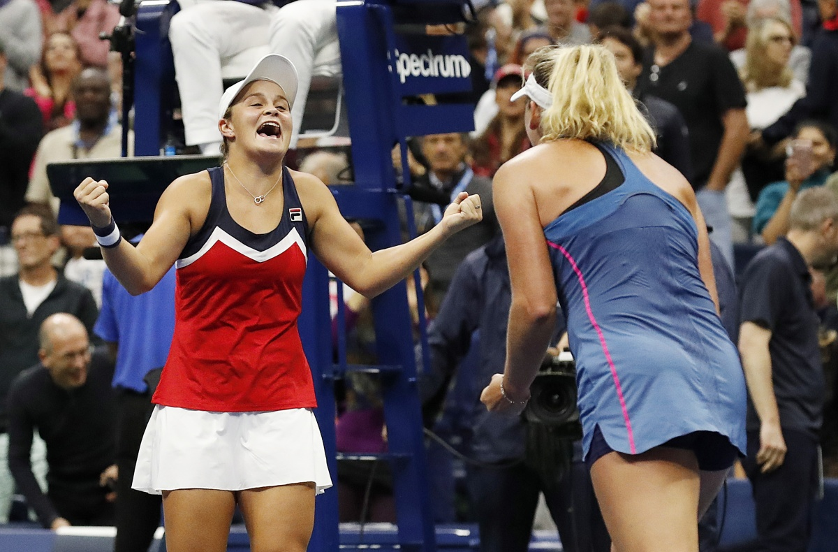 ash barty doubles grand slam at US Open