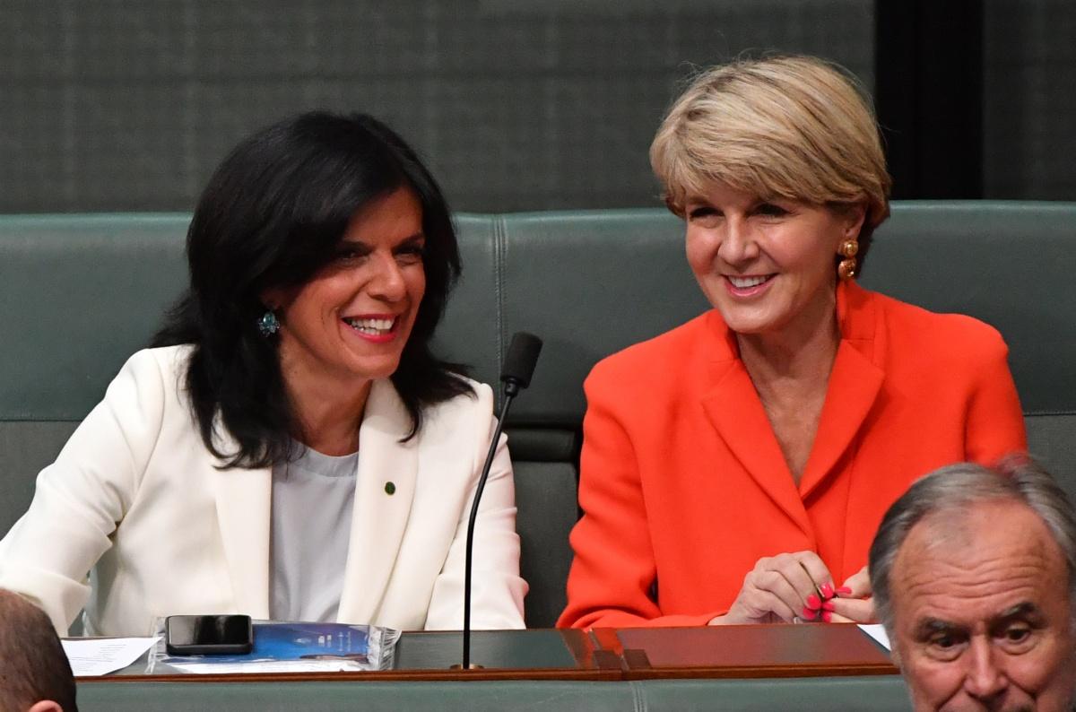 Liberal women MPs Julia Banks and Julie Bishop