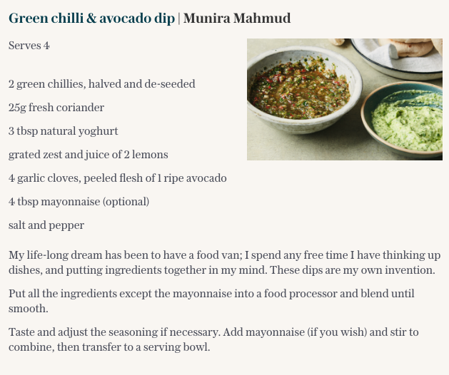 Meghan's favourite dip recipe