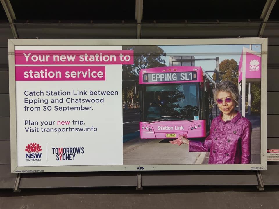 lee lin chin pink bus sydney metro north west