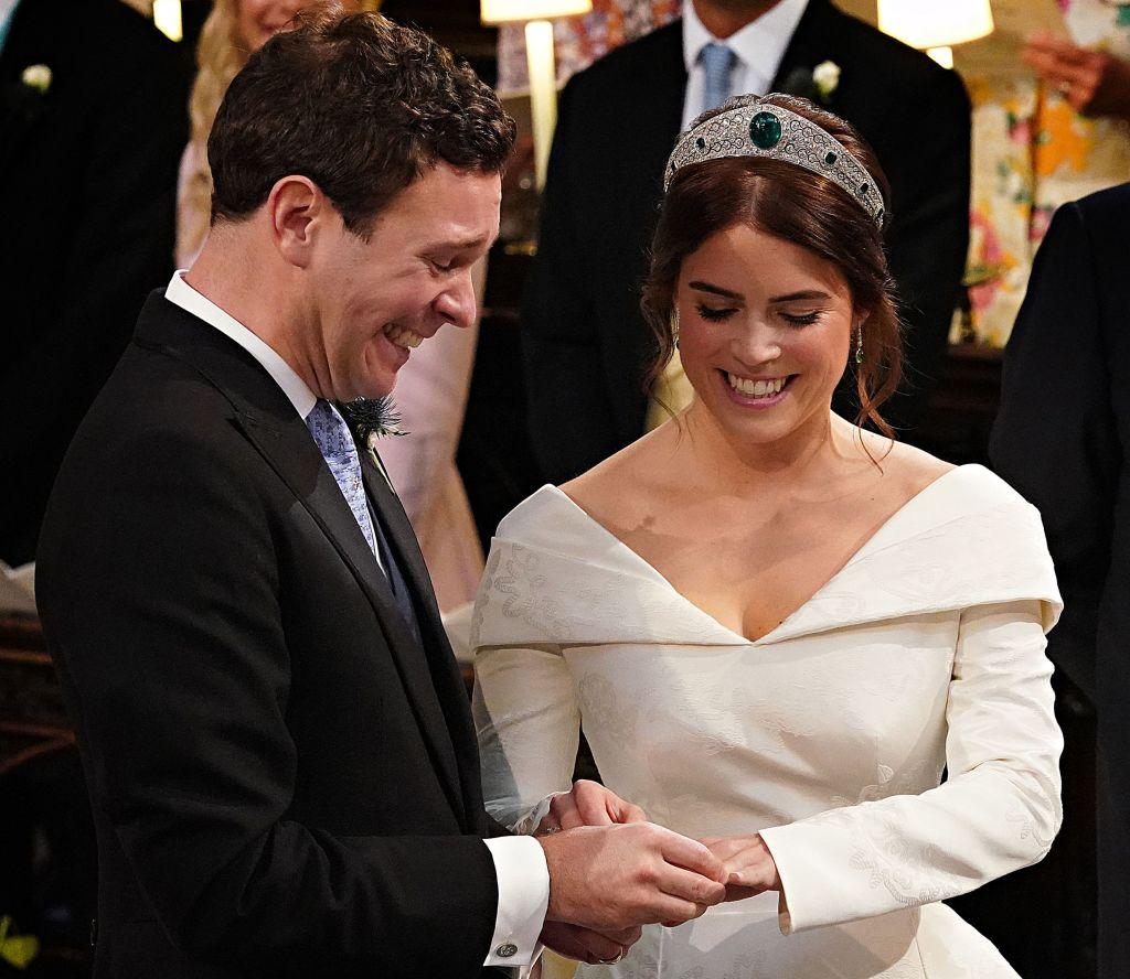 Princess Eugenie wedding dress scar