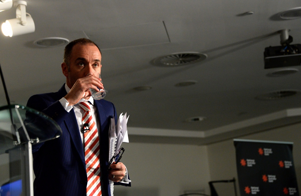 NAB CEO Andrew Thorburn was questioned about the GFC.