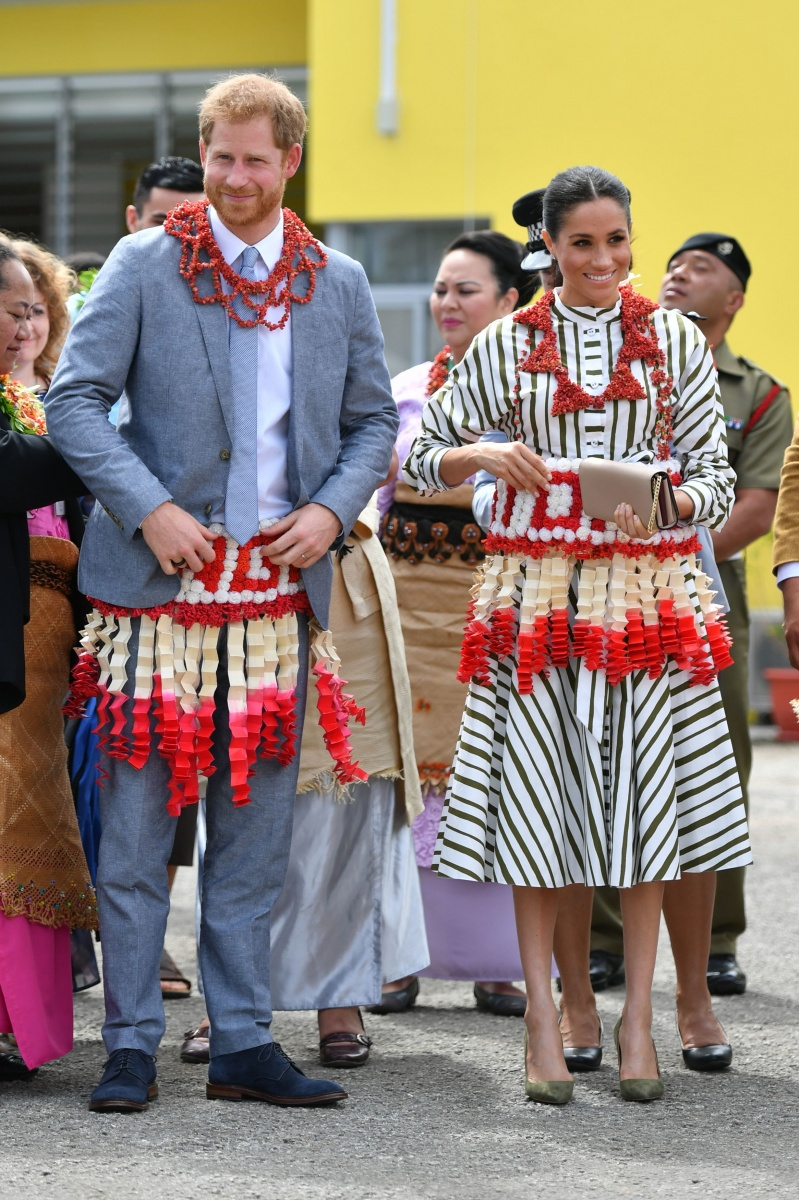 Harry and Meghan skirts Tonga