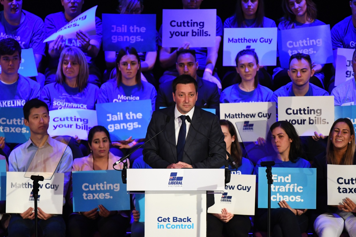 matthew guy - victoria election campaign launch