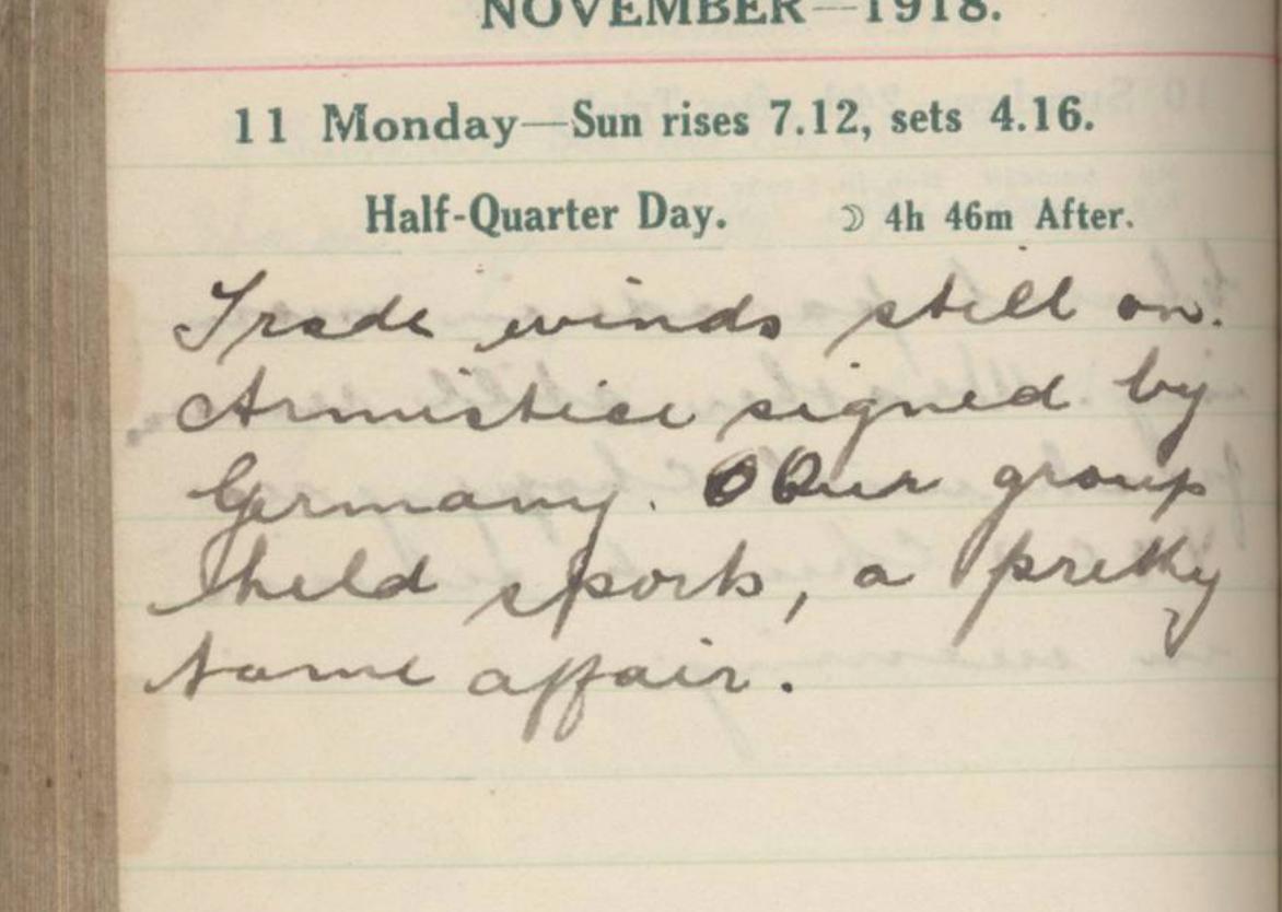 booley diary november 11