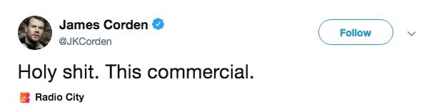 James Corden Twitter