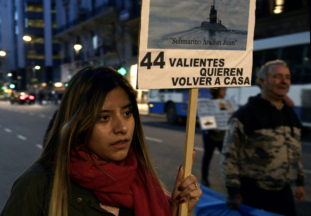 Argentine sub found one year after disappearance