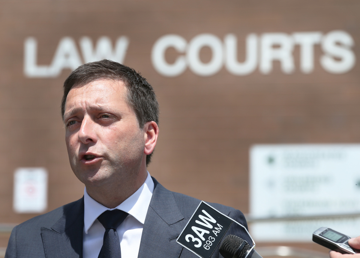 Matthew Guy has focussed on law and order ahead of the Victorian election.