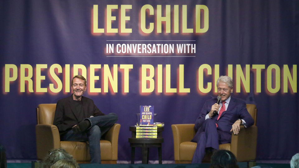 Lee Child Bill Clinton