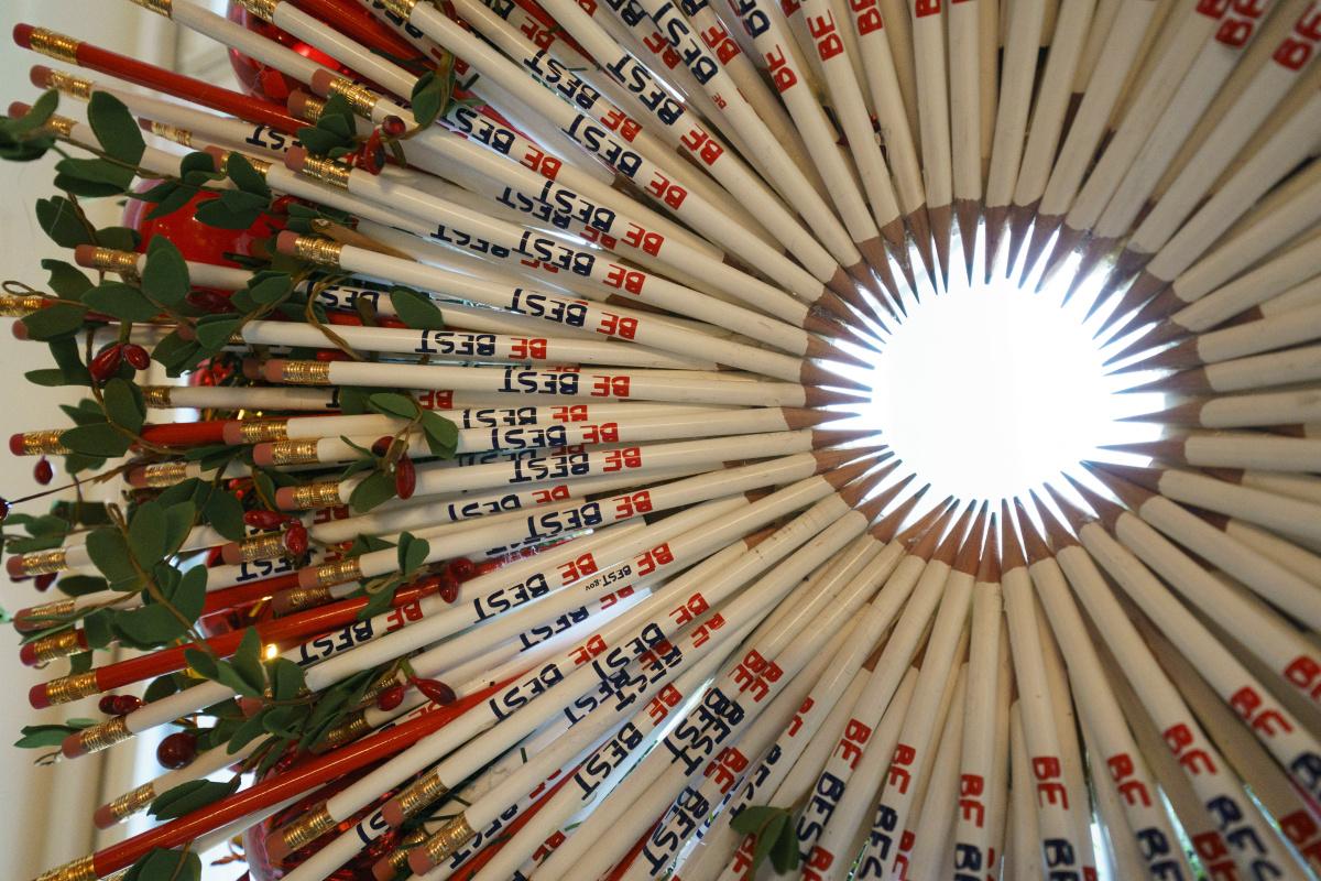 Pencils wreath