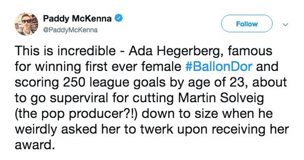 Soccer tweet