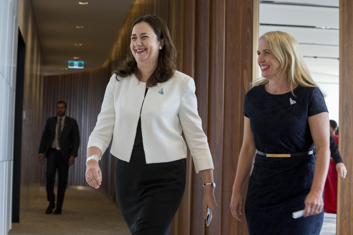 annastacia palaszczuk and kate jones