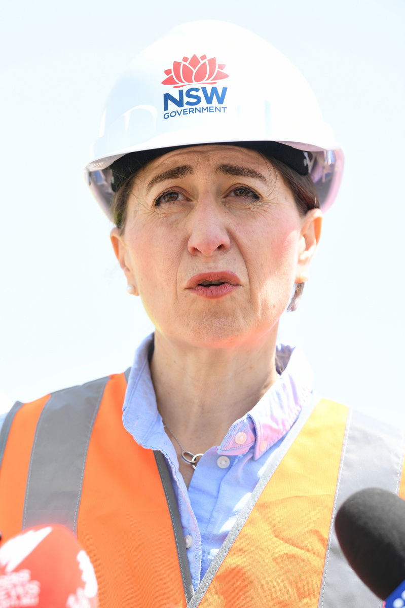 gladys berejiklian at the westconnex site in St Peters