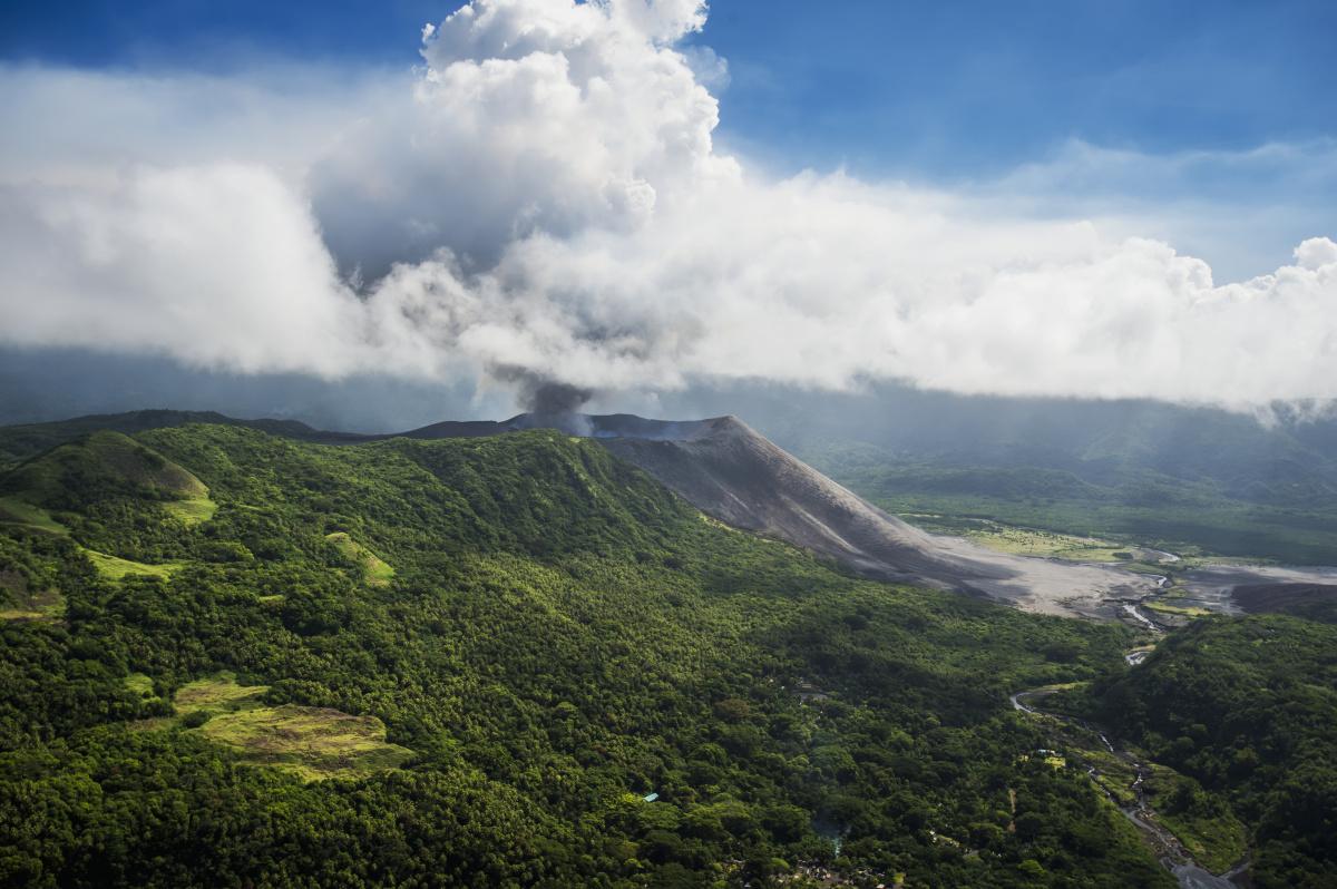 Vanuatu volcanic island