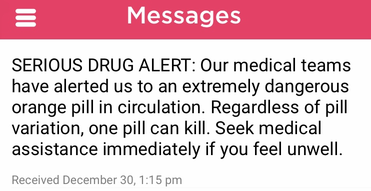 falls festival drug warning