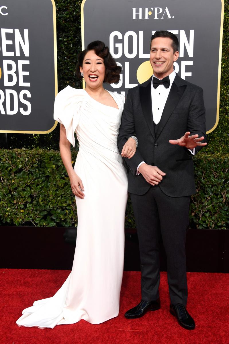 Sandra Oh Andy Samberg Golden Globes 2019