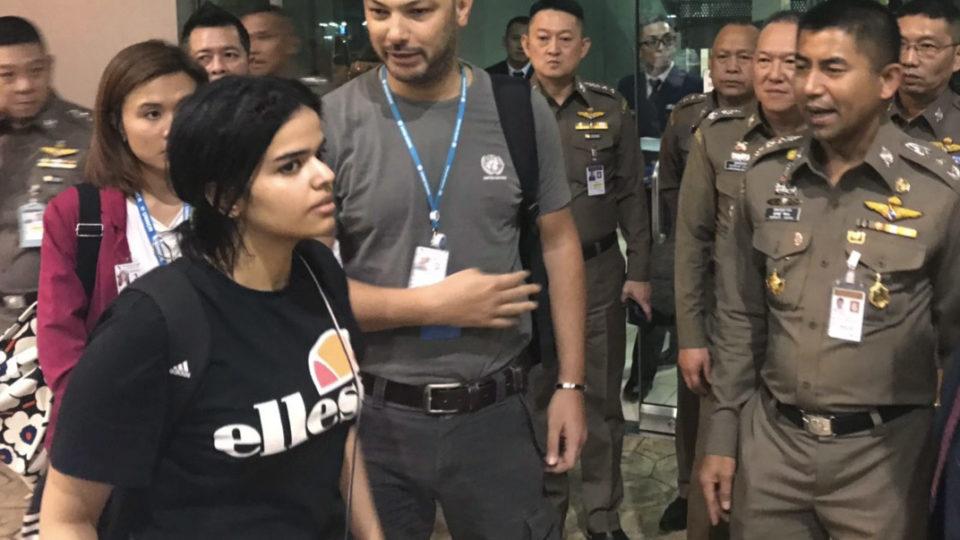 Saudi teen Thai airport