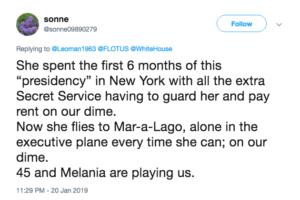 Melania twitter