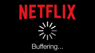 A buffering Netflix icon.