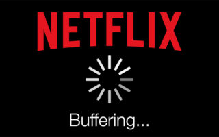 A buffering Netflix icon.