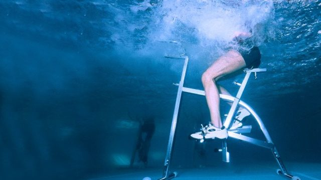 Water cycling improves cardio and strength while keeping cool.