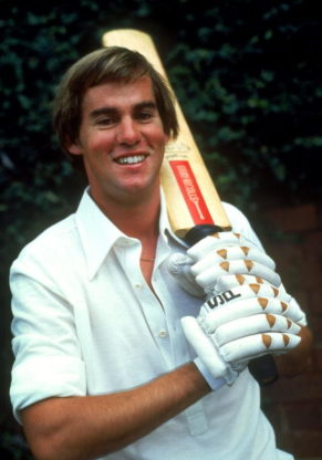 David Hookes holding bat