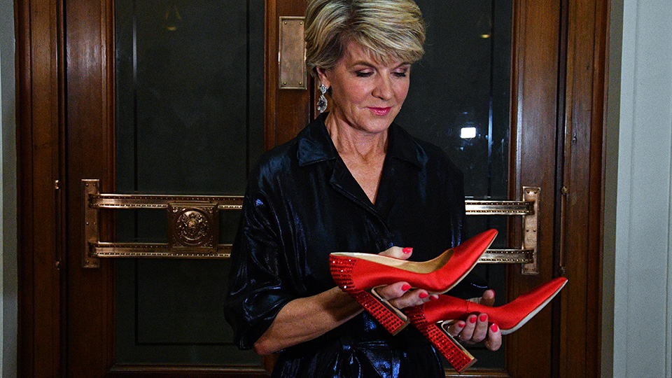 Julie Bishop red shoes
