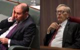 Treasurer Josh Frydenberg and Comissioner Kenneth Hayne.