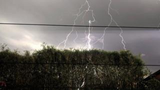Lightning in Melbourne