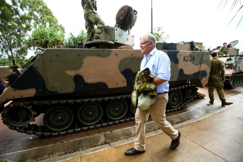 SCott Morrison's gaffe in riding a tank in Townsville