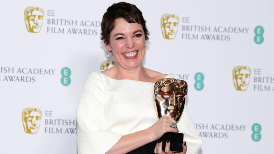 Olivia Colman at the BAFTA Awards